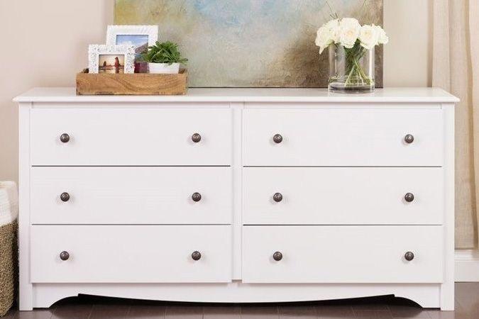 Prepac Monterey White 6 Drawer Dresser @besthomehq
