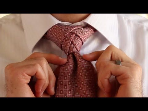 """How to Tie a Tie - The ELDREDGE Knot How To Tie A Tie """"son' words- """"that is some pimp shit"""""""