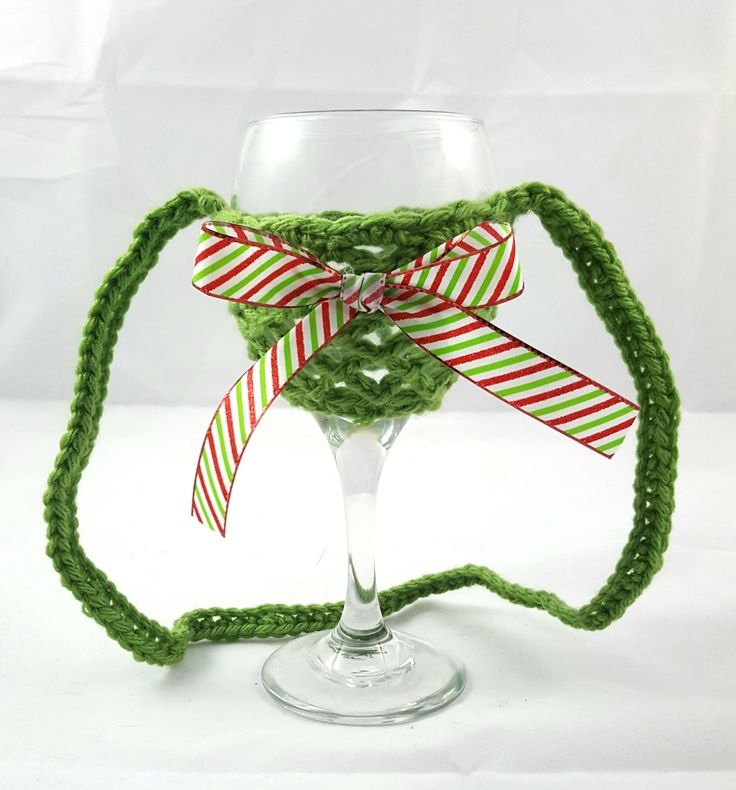 This wine glass necklace is perfect for the wine enthusiast! Fantastic stocking stuffer idea! Great for girls night out, bachelorette party, wedding favor, wine festivals, barbecues and more. No more worry about which wine glass is yours. A lovely crochet wine glass holder that sits nicely on the table or around your neck.  Created with acrylic yarn for stability and comfort.   Hand wash in cold water and hang dry to ensure long lasting wear.  *** Wine and wine glass not included ***  Please…