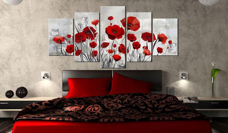 Obraz 100x50 cm kwiaty maki b-A-0001-b-n - artgeist - Wydruki na płótnie #art #wall #decor