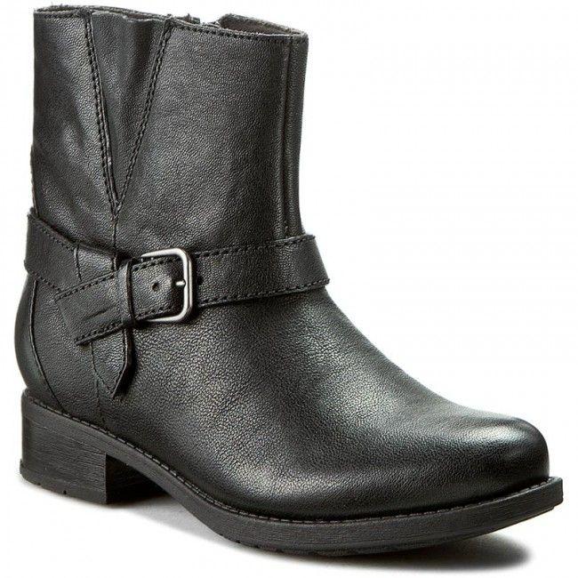 Botki CLARKS - Verlie Bali 261215544 Black Leather
