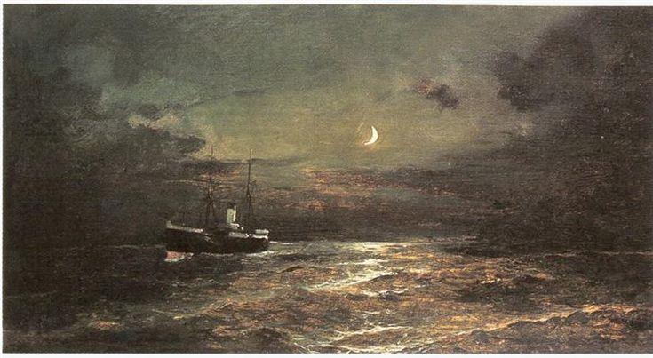 Boat at moonlight - Volanakis Konstantinos- . Από τo 1883 και μέχρι το 1903 δίδαξε στην Σχολή των Ωραίων Τεχνών (μετέπειτα Ανωτάτη Σχολή Καλών Τεχνών) της Αθήνας· αρχικά το μάθημα της Στοιχειώδους Γραφής και αργότερα το μάθημα της Αγαλματογραφίας. Πέθανε στον Πειραιά το 1907.