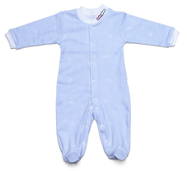 Babyglow - Temperature Color Changing Bodysuit, changes from blue to white on the areas that get over 98.6 degrees Fahrenheit. Instantly shows if your baby has a fever