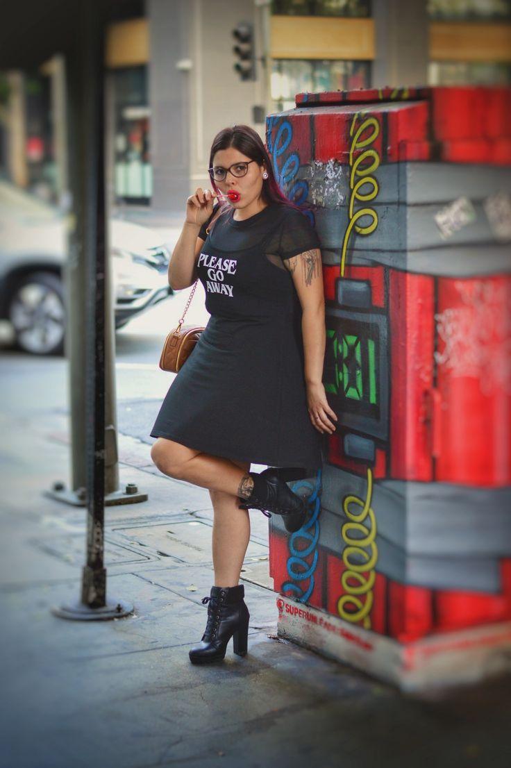 Please Go Away... P/C: @kwf_photography  Go Away 2-Piece Skater Dress: @killstarco  Boots: @charlotterusse • • • • • • • • • #killstar #killstarclothing #pleasegoaway #streetsofla #dtla #losangeles #womanwhomodel #calimodel #lamodel #travelingmodel #nikkyjo #goaway #skaterdress #casuallycute #naturalbeauty #confident #boots #fashionwomenstyle #fashion #curvygal #sexygal