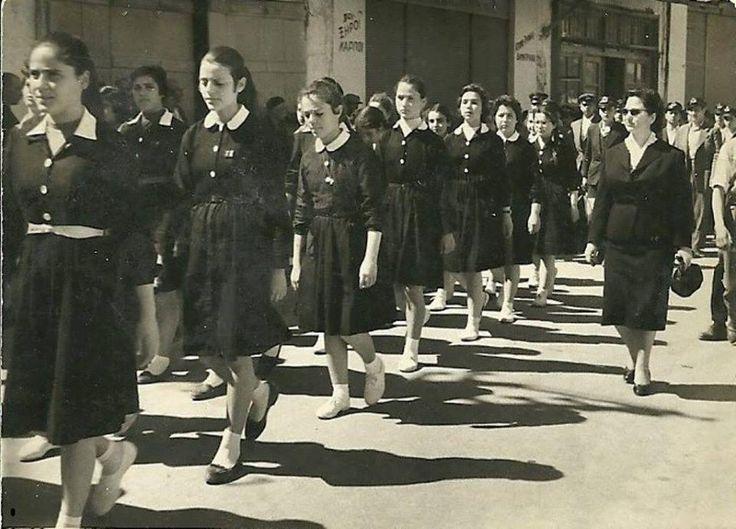 Δεκαετία 1960 γυμνάσιο Κισάμου Χανίων - φωτογραφία από - Ελένη Ανδριά-Κουτσογιαννάκη
