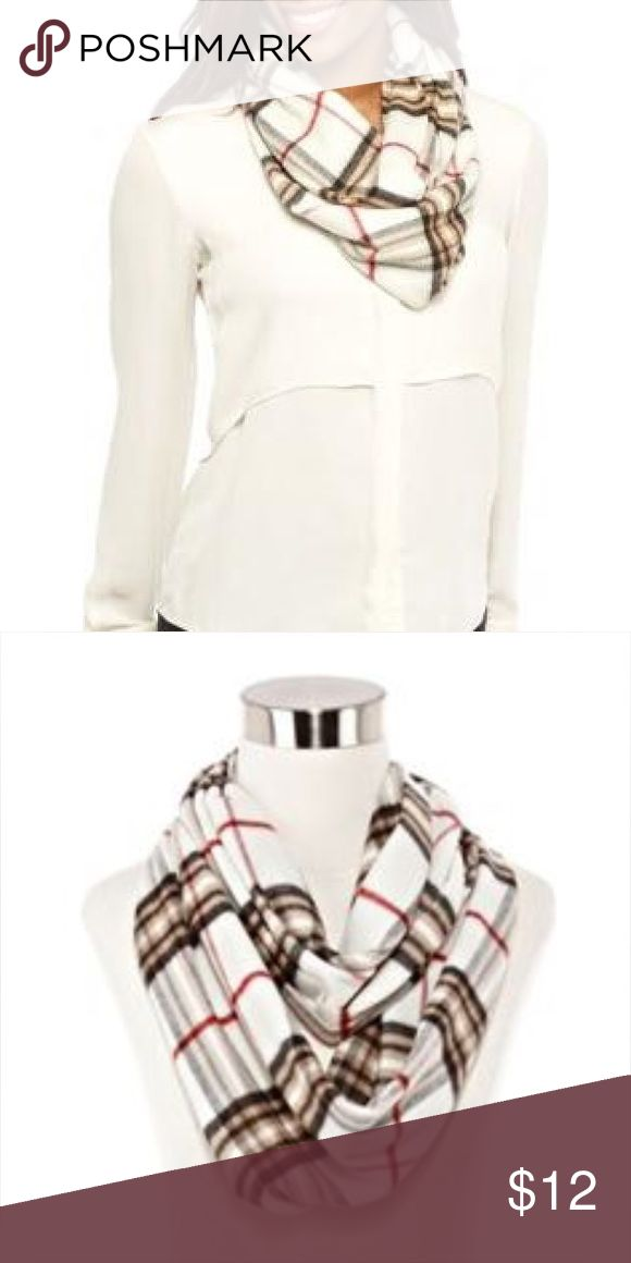 Plaid Infinity Scarf Very Cute Plaid Infinity Scarf. Dresses up any top. Cashmink Accessories Scarves & Wraps