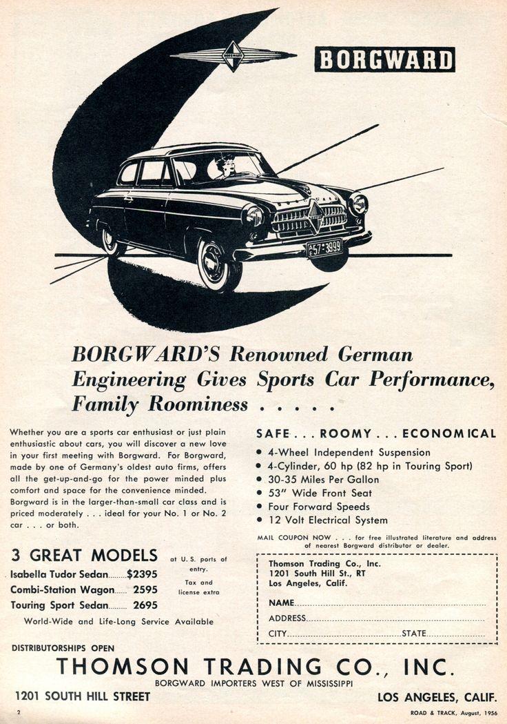 140 best borgward & lloyd images on Pinterest   Antique cars, Old ...