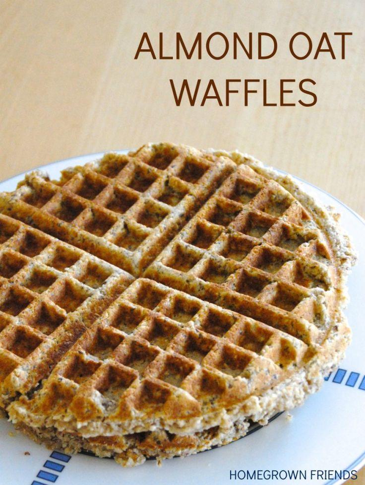 Healthy Almond Oat Waffles