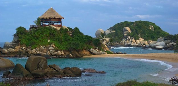 Tayrona National Park of Colombia, located 34 km from the city of Santa Marta on the Caribbean Sea.