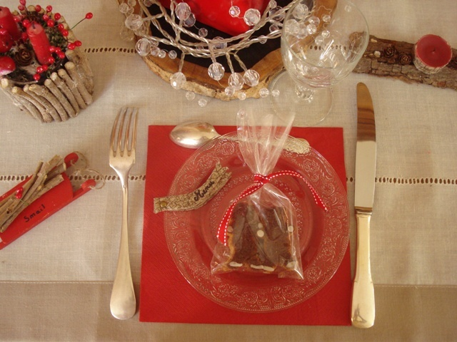 Winter chalet table decor/ Décoration de table châlet
