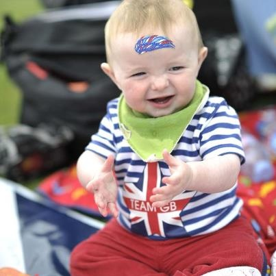Child at Olympics 2012
