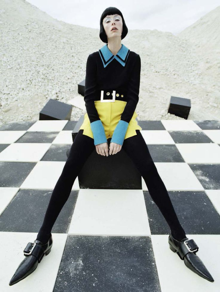 Edie Campbell in 'Check Mates' photographed by Tim Walker for Vogue Italia…
