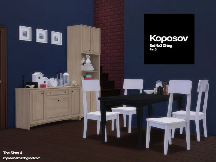 Koposov Set No3 Dining Part 3 For The Sims 4