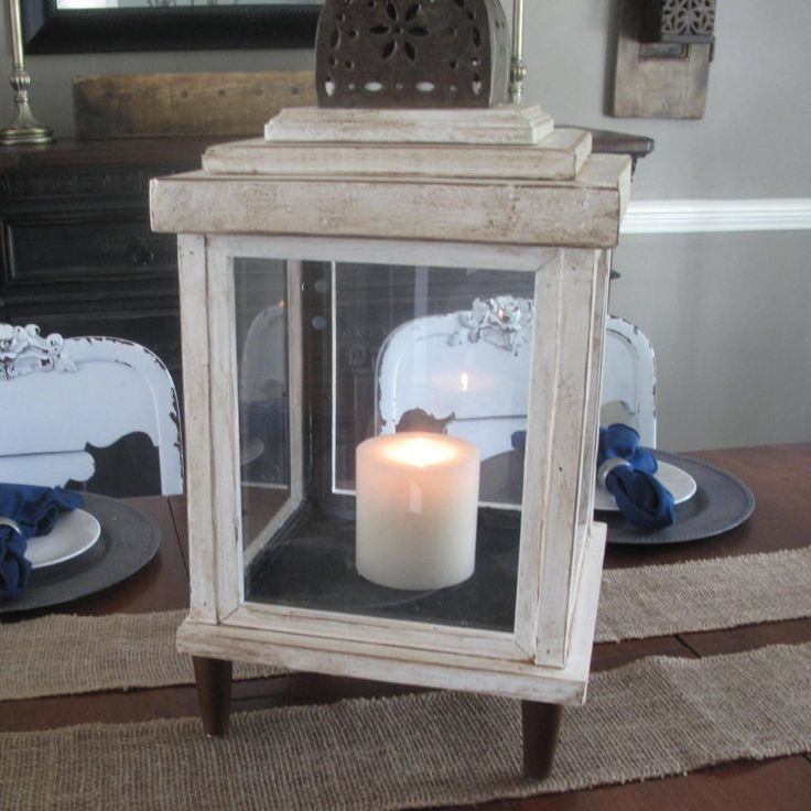 DIY Lantern from scrap wood and frames Scavenger Chic for MyRepurposedLife.com