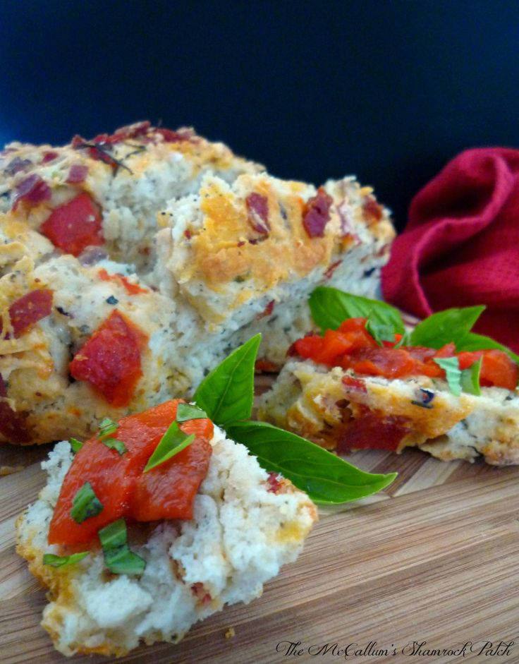 Mediterranean Bread with Aged Asiago Cheese | The McCallum's Shamrock Patch
