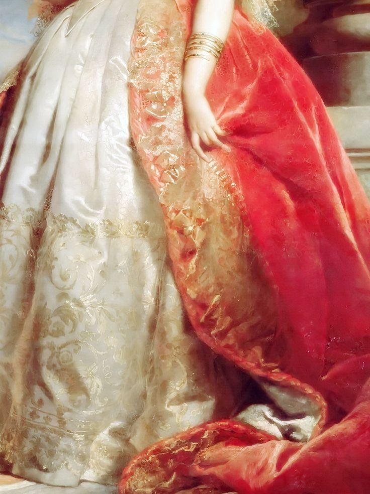 Princess Mathilde Bonaparte, Detail. by Édouard Louis Dubufe, (1820 – 1883) Dated: 1861