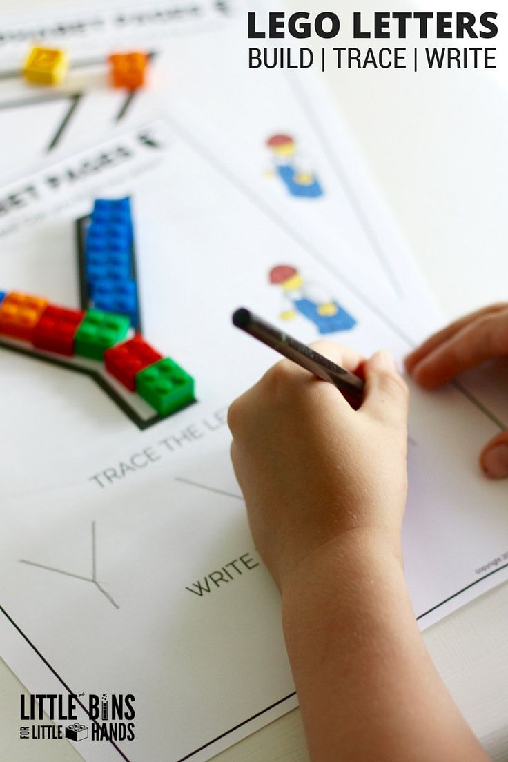 LEGO LETTERS - Build, Trace and Write.