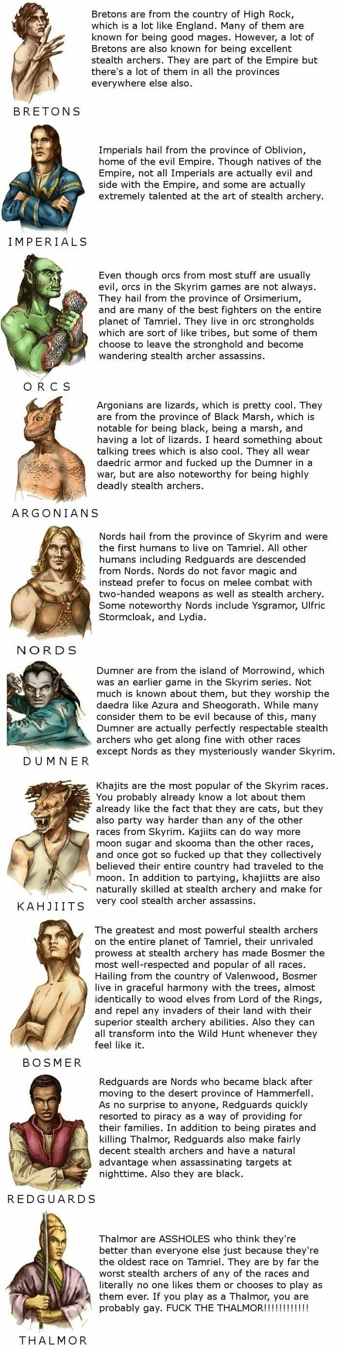 Lore of the Skyrim series