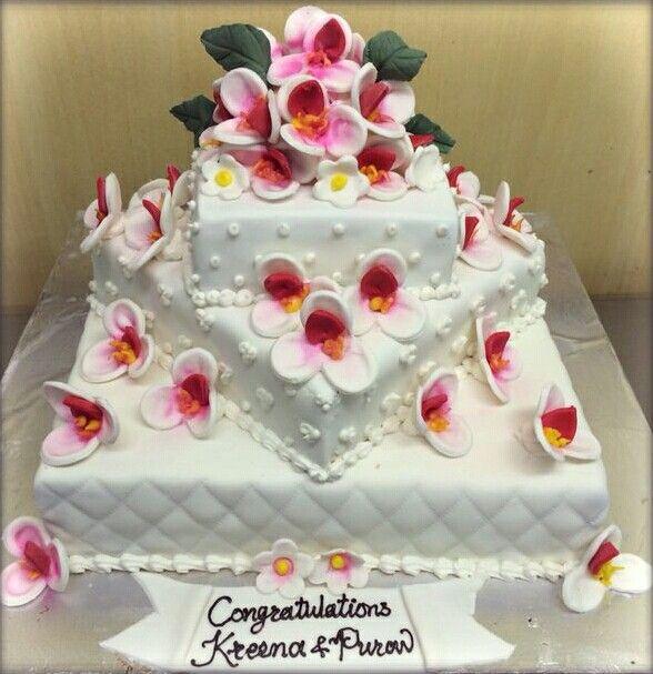 Wedding cake #3tier #beachtheme #Ambrosia