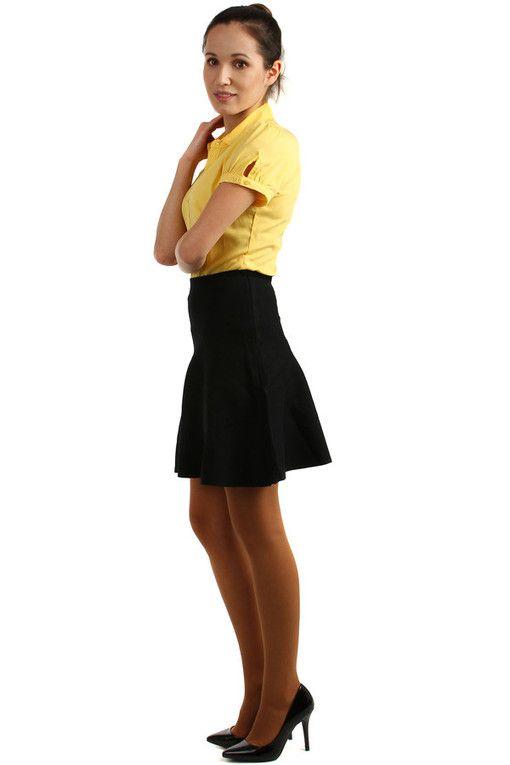 7f8407696054 Dámská áčková úpletová krátká sukně