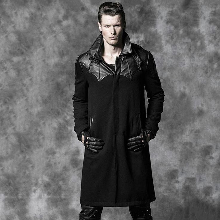 Стимпанк пальто ГОТИЧЕСКИЙ кожаное пальто Готический Бат Гете аристократический шерсть пальто теплое самосовершенствование()