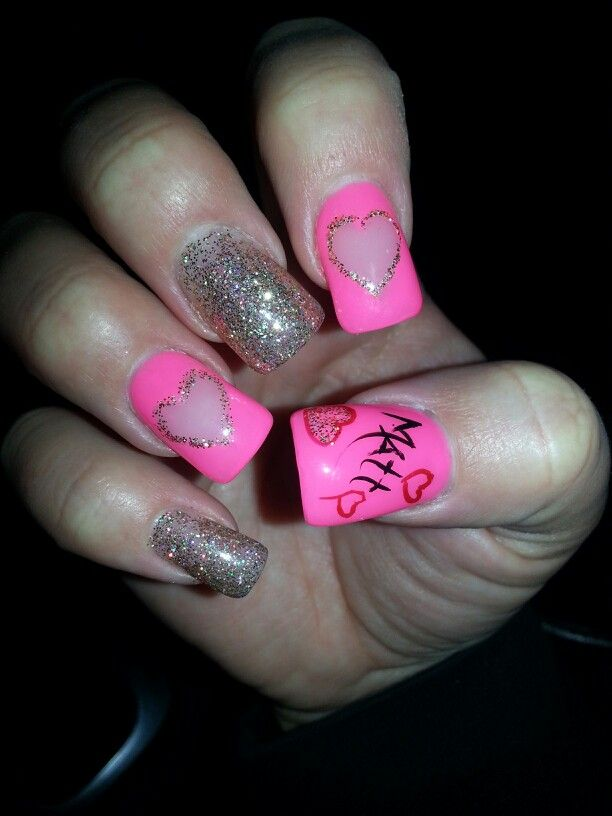 Nail designs with boyfriends name images nail art and nail 101 best nailsss images on pinterest nail scissors nail design my v day nails with bfs prinsesfo Choice Image