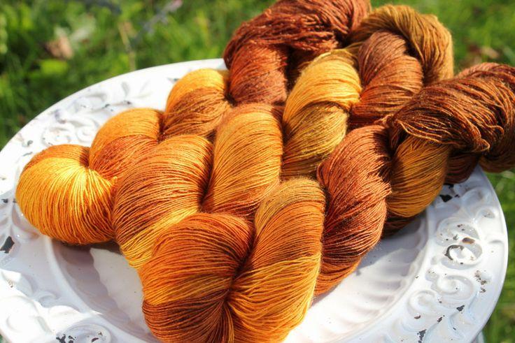 Golden hair - Włóczka farbowana ręcznie - YarnAndArt - Włóczki ręcznie barwione