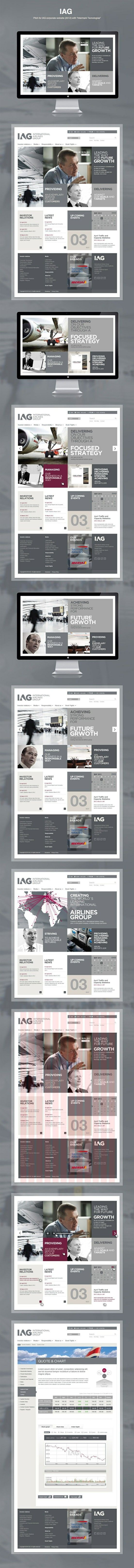 IAG - International Airlines Group | http://www.iairgroup.com | #Webdesign