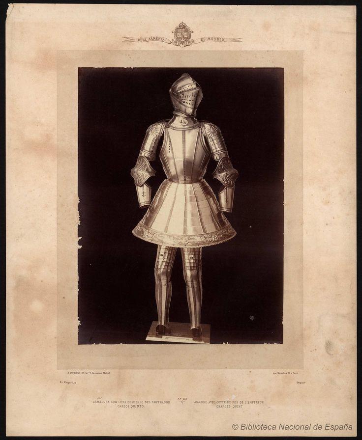 Armadura con cota de hierro del emperador Carlos Quinto. Laurent, J. 1816-1886 — Fotografía — 1868