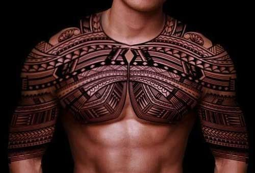 Maori Tattoo Chest