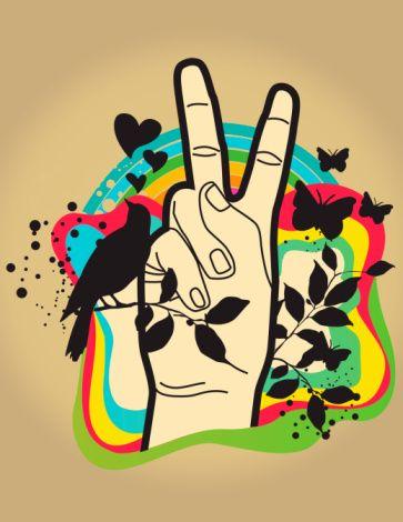 colorful peace: Ideas, Life, Hippies, Stuff, Peace Signs, Art, 60S, Photo