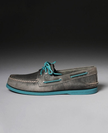 Sperry 2 Eye Neon Turquoise Docksider Shoes