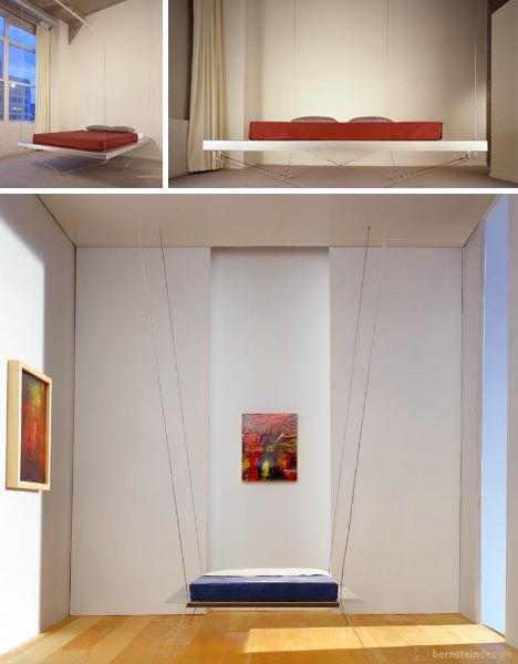 hanging beds from ceiling | Hanging Furniture: Suspended Bed, Chair, Table & Shelves
