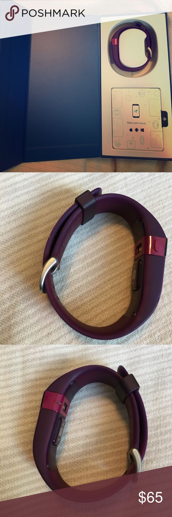 Fitbit Charge HR Large Plum Fitbit Charge HR in great condition with charging cable and USB bluetooth adapter fitbit Other