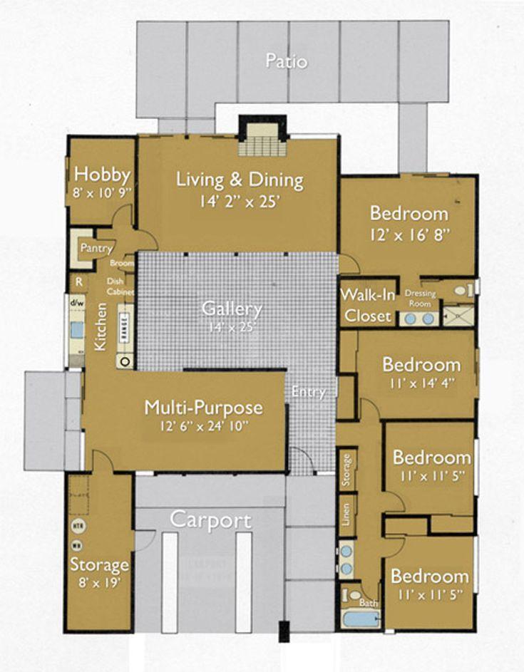 26 best Eichler floor plans images on Pinterest | Modern floor ...