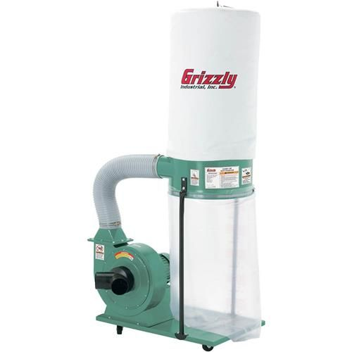 1-1/2 HP Dust Collector | Grizzly Industrial