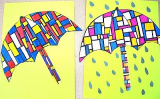 Mondrian umbrellas!