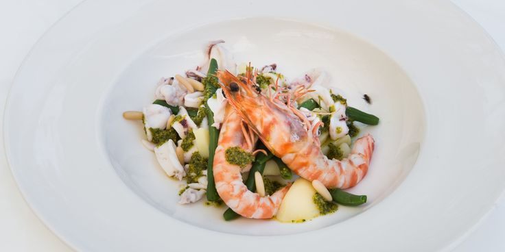 In this easy seafood stew recipe Grazia Soncini serves up king prawns and squid with a flavour-packed Ligurian sauce. A stunning starter recipe to showcase the flavour of the seafood.