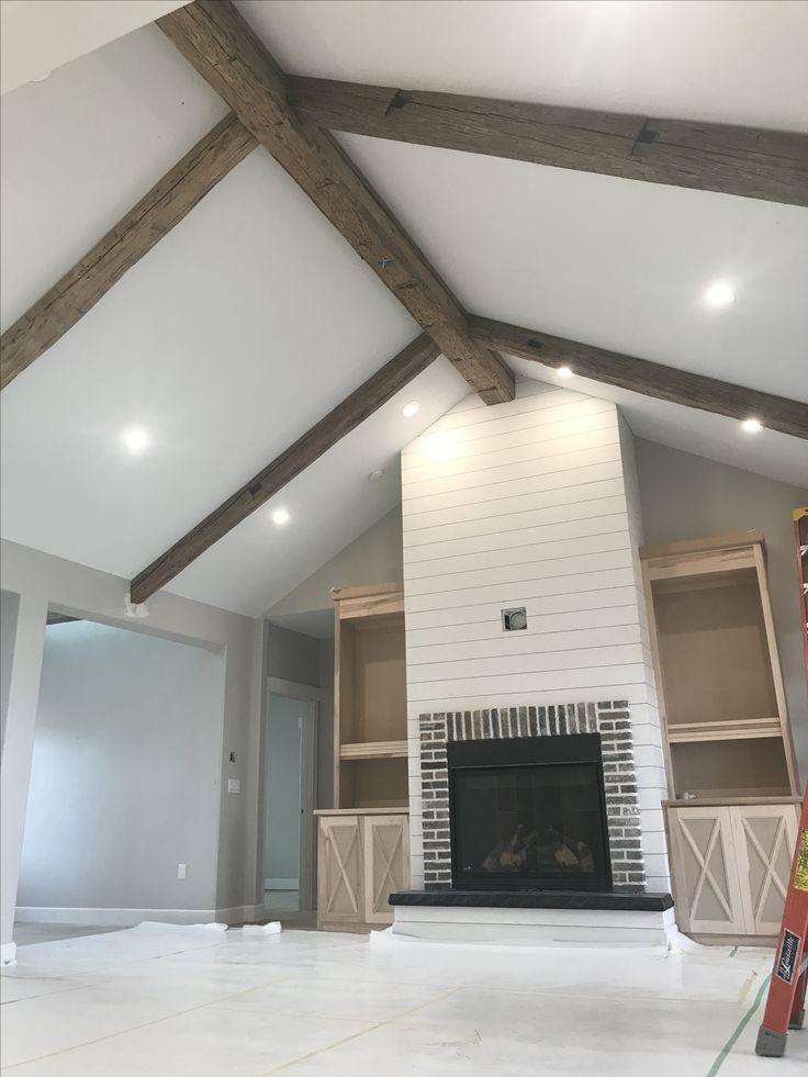 Reclaimedwoodbeams reclaimedwood fireplace shiplap, 20 x 38 house plans