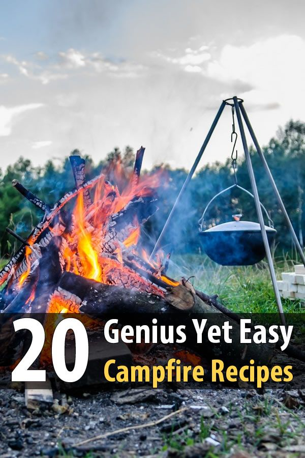 Here's a list of 20 campfire recipes that even cooking-challenged people can handle. Things like roasted cinnamon rolls, campurritos, curly dogs, and more.