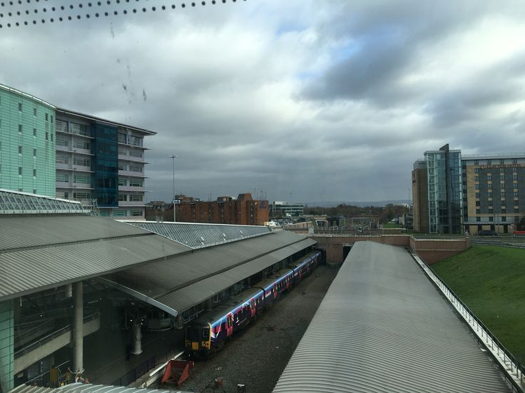 Hilton Hotel in the distance on the left Manchester Airport