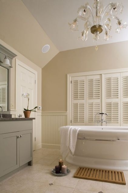 1000 Images About Bathroom Wall Treatments On Pinterest Traditional Bathroom Neutral Colors