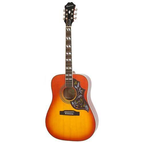 The Epiphone Hummingbird PRO electro acoustic is as close to a real Gibson Hummingbird as you can get for a great price! Complete with on-board Shadow pickup. Order today!