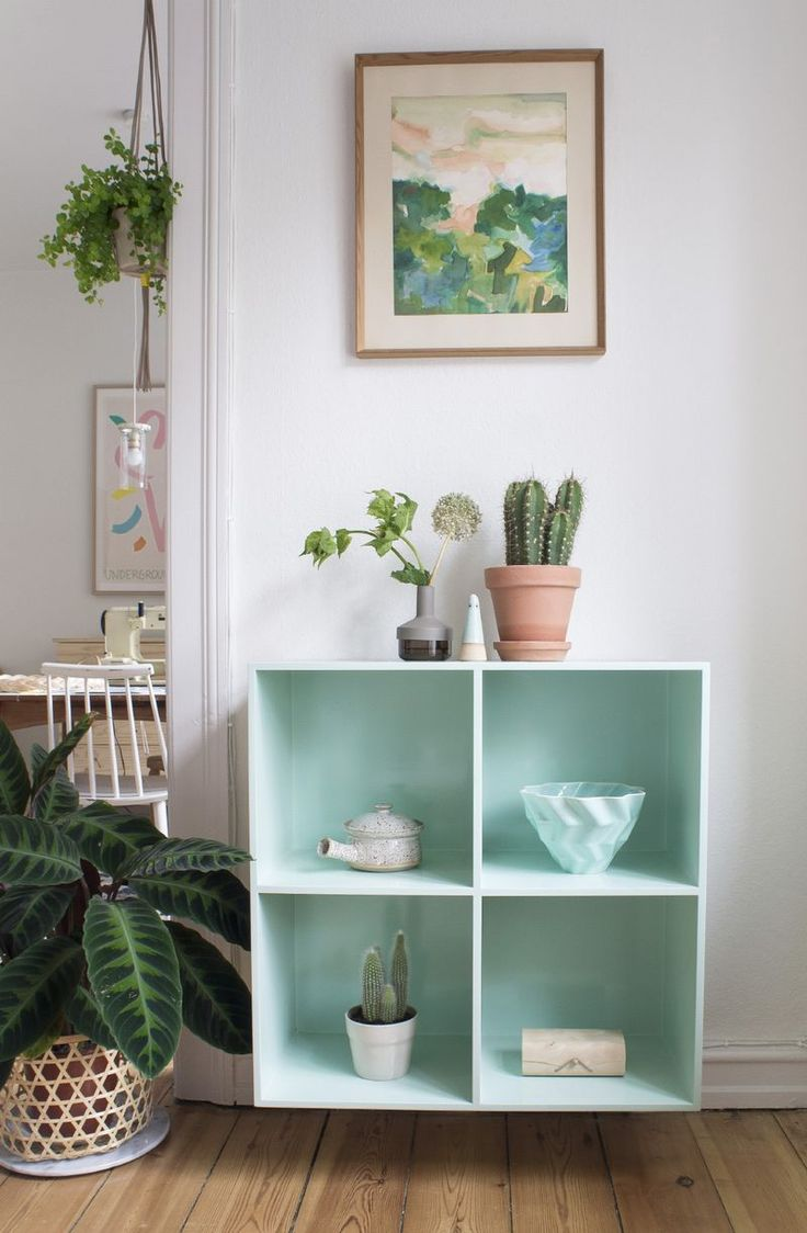 mint green cubby