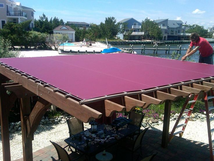 Canvas cover waterproof pergola idea 39 s pinterest decks over the and canvases - Waterdichte pergola cover ...
