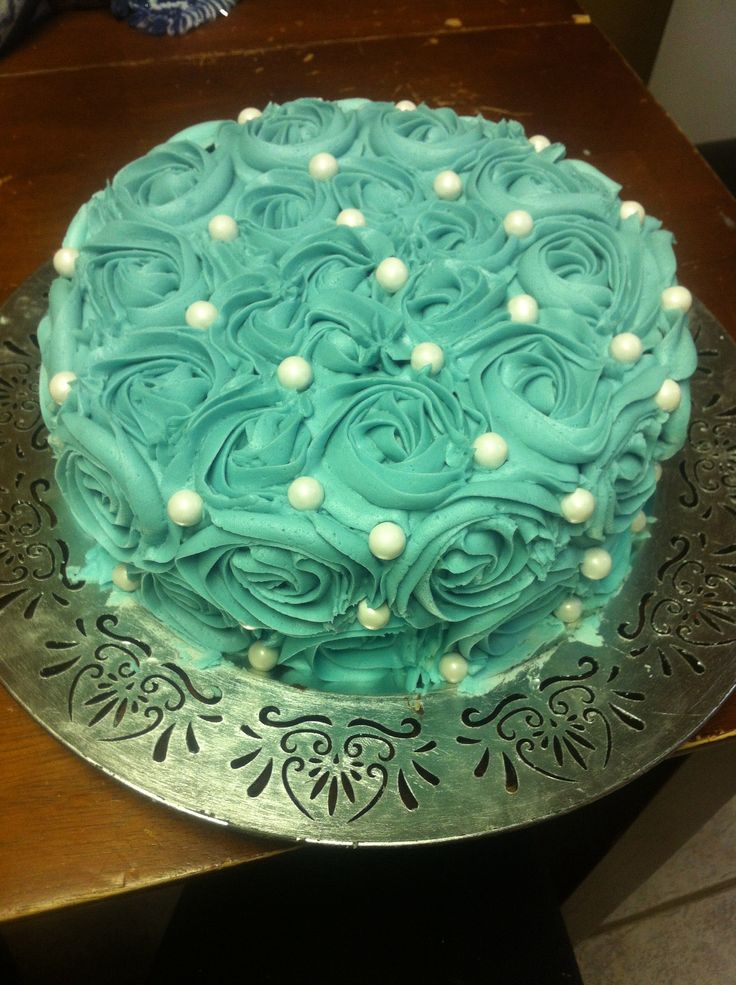 Rosette Cake Floral Cake My Cakes Pinterest Floral