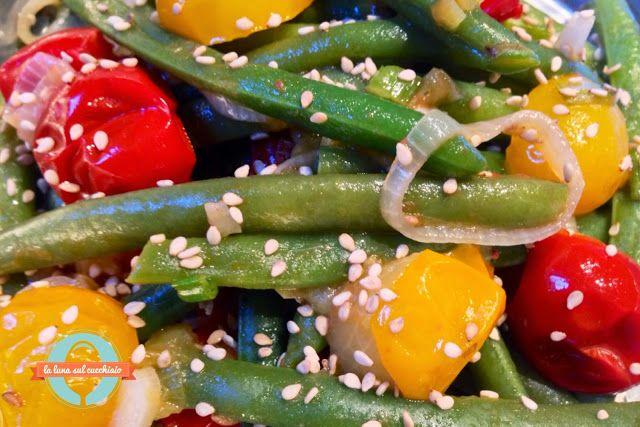 La luna sul cucchiaio: Padellata di fagiolini e pomodori ciliegini