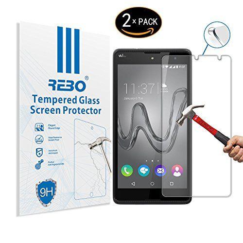 cool Wiko Robby Protector cristal templado - RE3O® 2 x Protector de pantalla cristal templado vidrio templado para Wiko Robby 5,5'' pulgadas, Fácil de instalar y sin burbujas de aire, Borde redondo elegante 2,5D, Dureza 9H, Alta transparencia