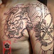 [tattoo by 100c]나마쿠비,이레즈미,도깨비,일본스타일,출장타투,청담타투,강남타투,타투바이백씨,백씨타투,타투싼곳