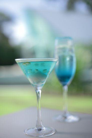 Blue cocktail Blue Wave by Tirtha Bridal Uluwatu Bali